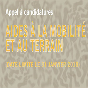Appel à candidatures 2018