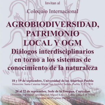 Coloquio agrobiodiversidad, patrimonio local y OGM
