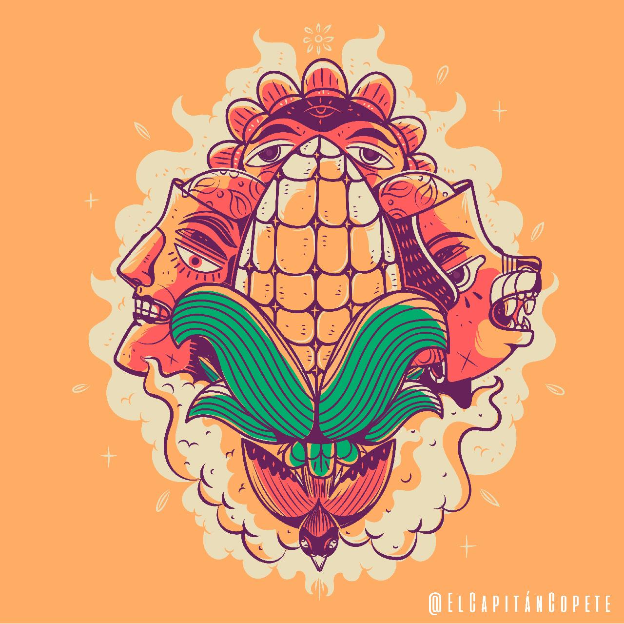 El Capitán Copete, Dioses del maíz. ©Jesús Ramos.
