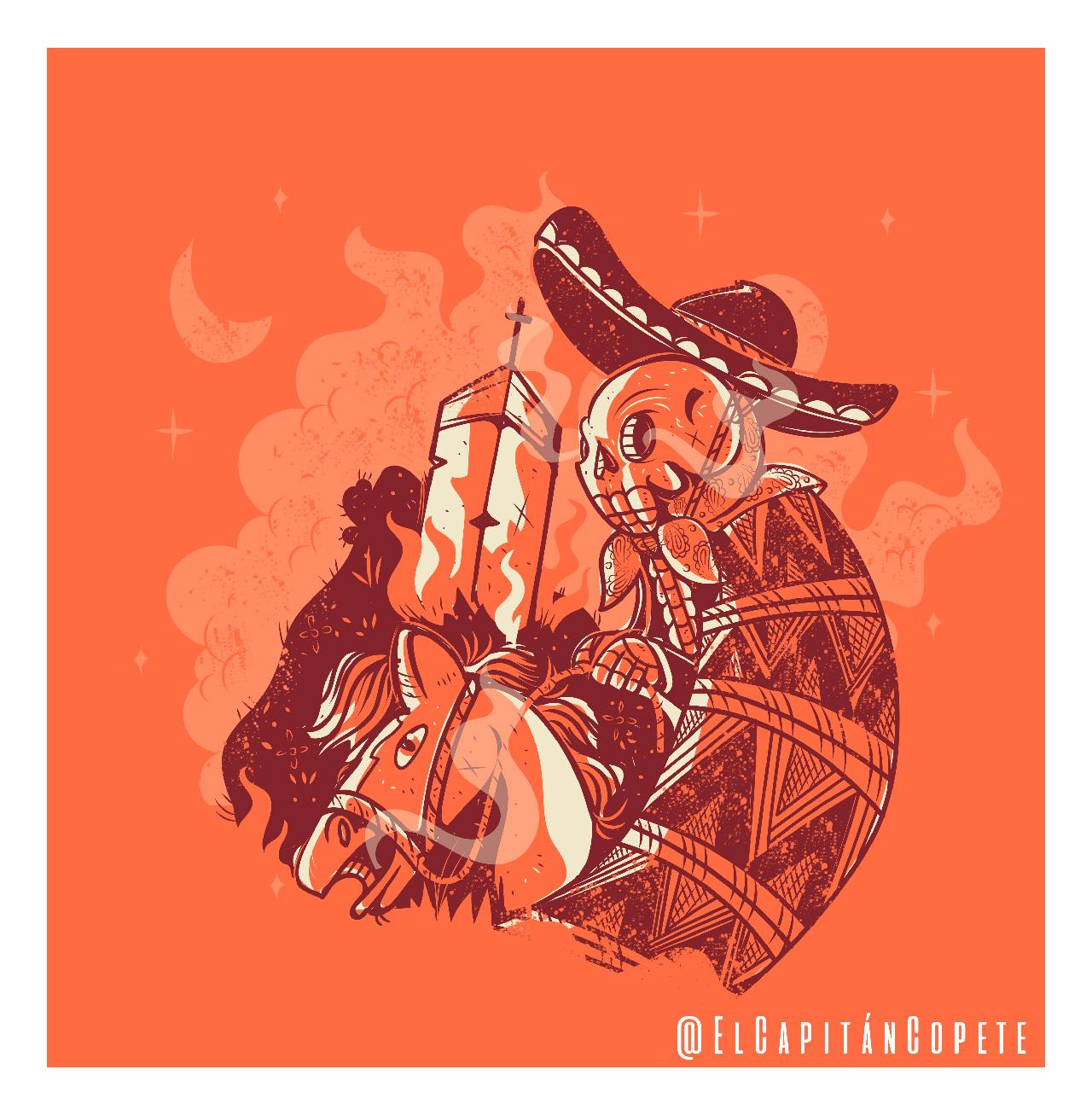 El Capitán Copete, El Charro negro. ©Jesús Ramos.