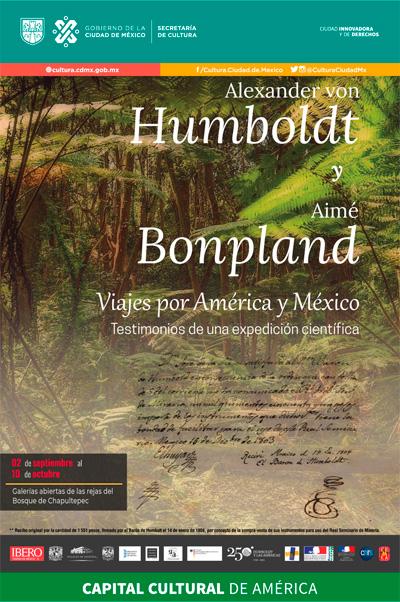 Exposición Alexander Von Humboldt y Aimé Bonpland. Viajes por América y México. Testimonios de una expedición científica
