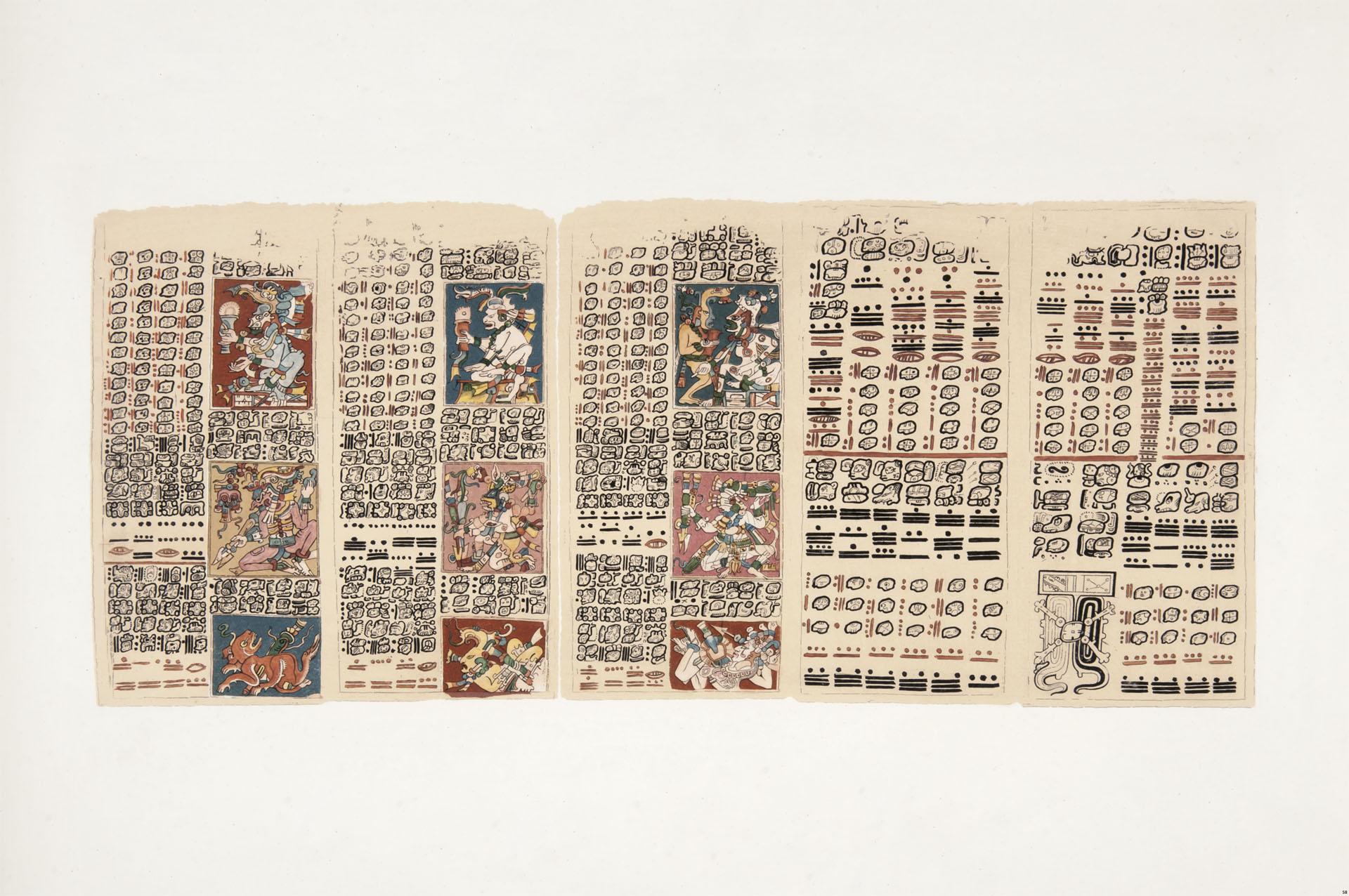 Fragmento de un manuscrito jeroglífico conservado en la Biblioteca Real de Dresde