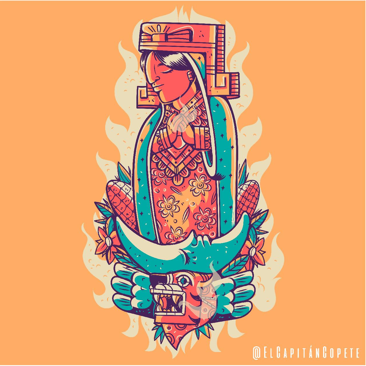 El Capitán Copete, Tonatzin-Guadalupe. ©Jesús Ramos.