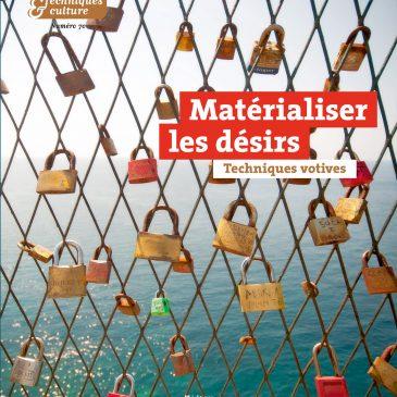 [26 abril] Presentación del último número de la revista francesa: Techniques & Culture